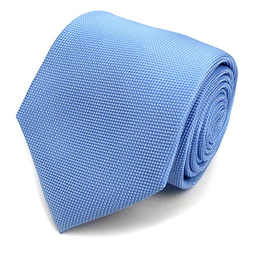 Mini Dotted Micro Fiber Poly Tie (Baby Blue)