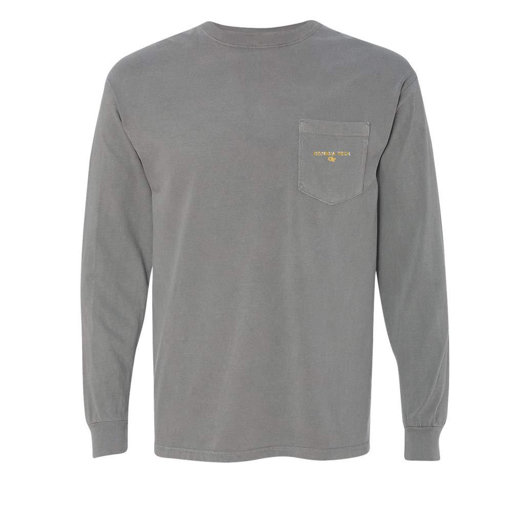 NCAA Georgia Tech Yellowjackets 01AMAN08 Unisex Long Sleeve Pocket T-Shirt