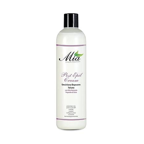 Después de cera Emulsion con Talco, crema de depilación posterior, elimina los residuos de