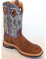 Twisted X Mens Navy Lite Cowboy Work Boot Steel Toe - Mlcs016