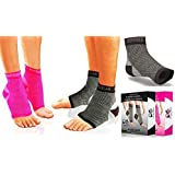 Plantar Fasciitis Socks with Arch Support, BEST 24/7 Foot Care Compression Sleeve, Better than Night Splint, Eases Swelling & Heel Spurs, Ankle Brace Support, Increases Circulation, Relieve Pain Fast