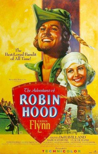 The Adventures of Robin Hood POSTER Movie (1938) Style P 11 x 17 Inches - 28cm x 44cm (Errol Flynn)(Olivia de Havilland)(Basil Rathbone)(Alan Hale)(Una O'Connor)(Claude Rains)(Patric Knowles)