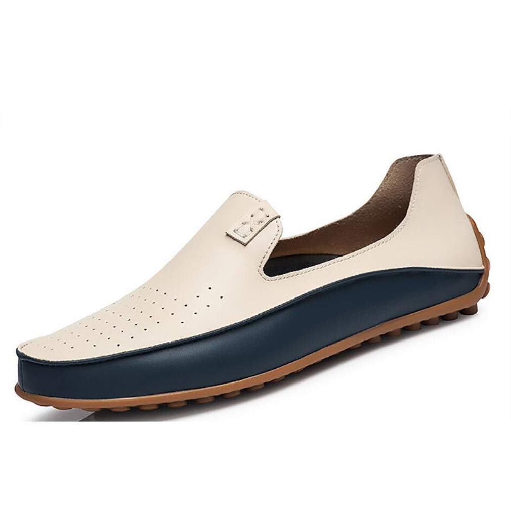 Komfort Loafers & Slip-Ons, Jugendmode Stiefelschuhe, tägliche Freizeitschuhe, Trend, Atmungsaktive Fahr Schuhe, Casual Office & Karriere Party & Abend (Farbe   On, Größe   47)