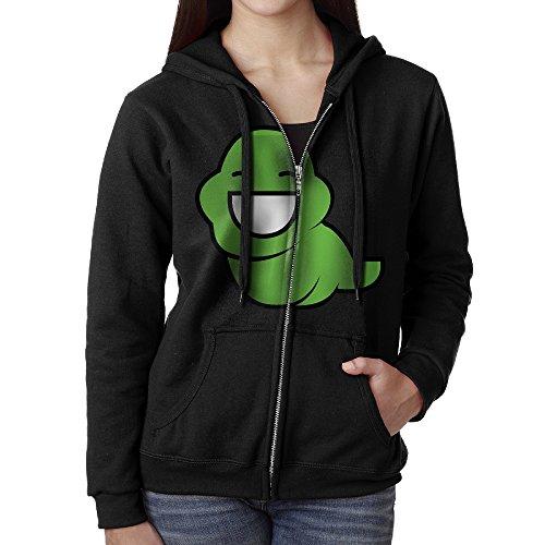 [KOBT Women's Comic Homestuck Logo Full Zip Hoodie Jackets Black Size XL] (John Homestuck Costumes)