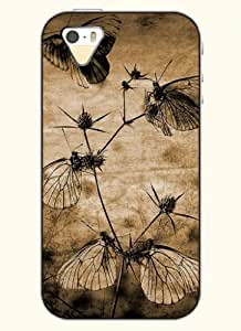 OOFIT Phone Case Design with Monochromatic Butterfly for Apple iPhone 4 4s 4g