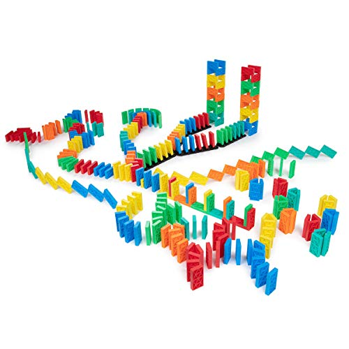 68 Pcs Kinetic Dominoes Large PRO-Scale Stacking Building Toppling Chain Set For