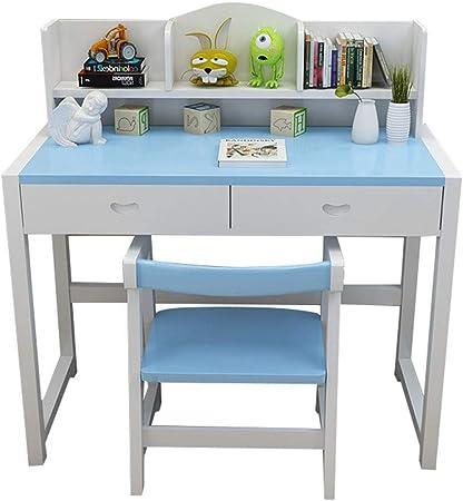 Juegos de mesas y sillas Mesa de estudio para niños y combinación de silla en casa mesa elevadora para estudiantes escritorio de madera maciza escritorio de lectura escritorio para estudiantes escrito: Amazon.es:
