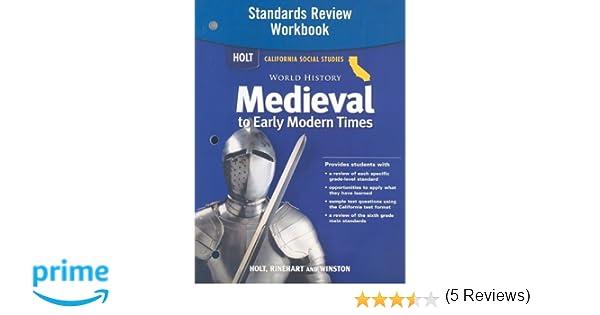 Holt World History California: Standards Review Workbook Grades 6 ...