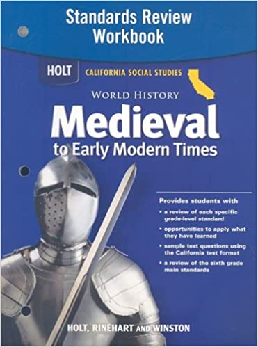 Buy World History Medieval To Early Modern Times Holt
