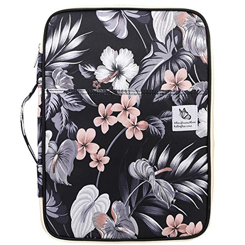 Waterproof Travel Portfolio A4 Document Bag,JAKAGO Business File Holder Organizer Multi-functional Zippered Case Meeting/Interview Pouch for 13