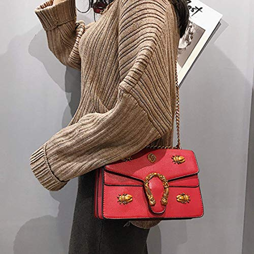 xiaohu Negro Hombro al Height 24cm Red 10cm para Width Mujer Negro Bolso 16cm Thickness wxrngXqx