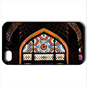 Full-of-Colors - Case Cover for iPhone 4 and 4s (Watercolor style, Black)