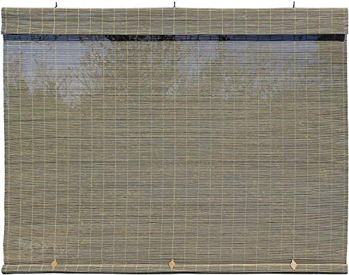 Radiance 1108125 Lewis Hyman-Imperial Matchstick Cord Free Roll-Up Shade, Driftwood x 72 Inches, 72 x 72