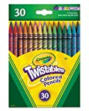 Crayola Twistables Colored Pencils, 30 Assorted Colors/Pack (687409)