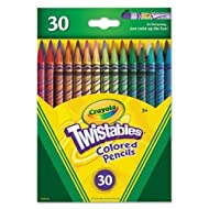 Crayola Twistables Colored Pencils, 30 Assorted Colors, Adult Coloring, Gift