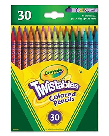 Crayola Twistables Colored Pencils Art Tools 30 Count Bright Bold Colors Great for Coloring No Sharpening
