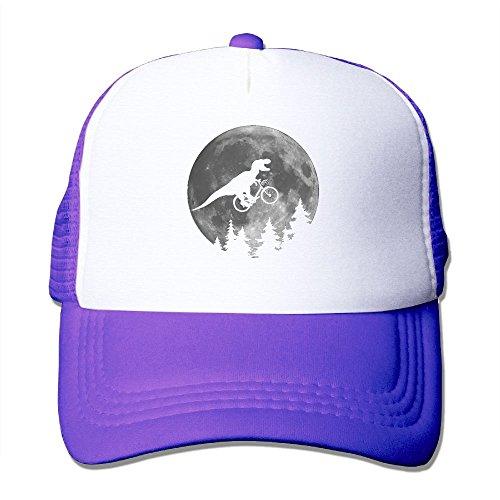 Power Rangers Lamp (XiaoHans Men Biker T Rex In Sky With Moon Cool Basketball Purple Mesh Caps Adjustable Snapback)