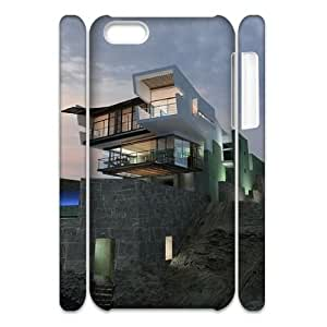 Qxhu house Hard Plastic Cover Case for Iphone 5C 3D case