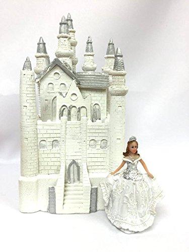 Fairytale Dream White Castle with Girl Figurine with Tiara Birthday Centerpiece (Fairytale Ideas)