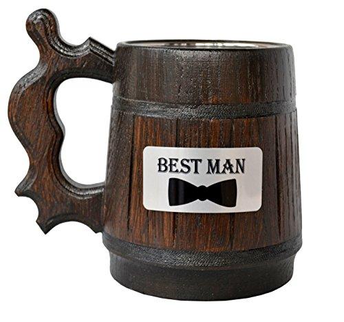 Handmade Best Man - Wood Beer -