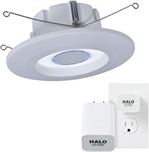 Halo RL56HVAHWB1 RL56 Series 5/6 Inch with Tunable CCT 2700K-5000K Smart Recessed White Trim with Bridge Alexa Voice Integrated Retrofit LED