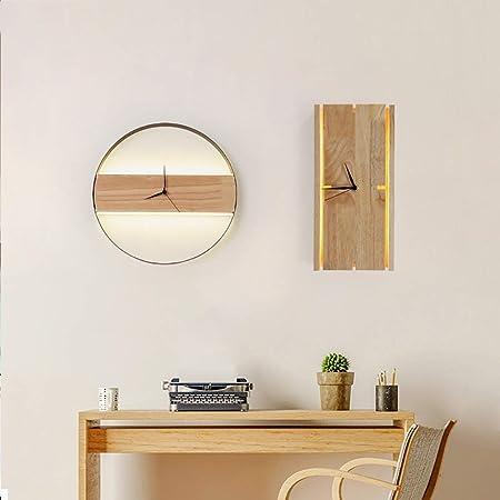 L.W.SURL Moderne Wandleuchte Leuchten Ingrese Ronda Creativa Sala lámpara de Pared de TV de Fondo de la Escalera Colgante de Reloj de Pared de la lámpara (Color : Rectangular): Amazon.es: Hogar