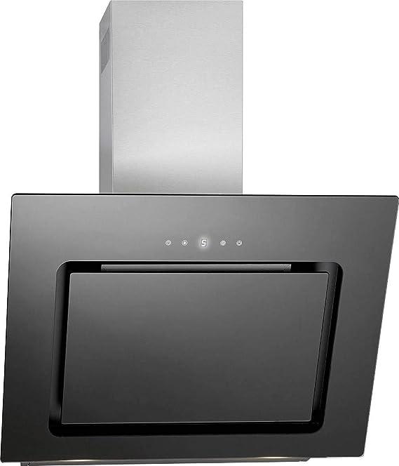 Bomann DU 771.1 G - Campana extractora vertical, 60 cm, pantalla LED, control táctil, recirculación o salida de aire, 3 niveles de potencia, 603 m3/h, color negro y acero inoxidable: Amazon.es: Grandes electrodomésticos