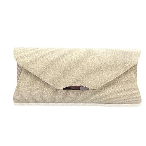 JUNBOSI Women's Dinner Envelope Bag Bridal Clutch Wallets For Ballroom Wedding Parties Daily Routine Shoulder Bag Diagonal Crossbody Bag (Color : Yellow, Size : One size) by JUNBOSI