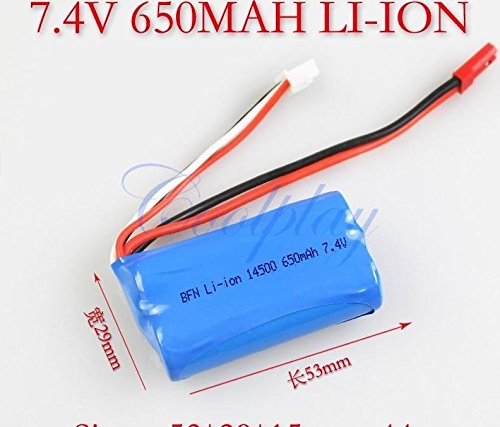 7.4V 15C 650mAh Li-Poly Rechargeable Battery For Panther Spy Drone ()