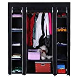 NEW BLACK TRIPLE CANVAS WARDROBE - PERFECT FOR EXTRA STORAGE OR STUDENT ROOM by Delta