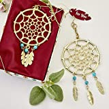 48 Gold Dream Catcher Themed Hanging Ornaments