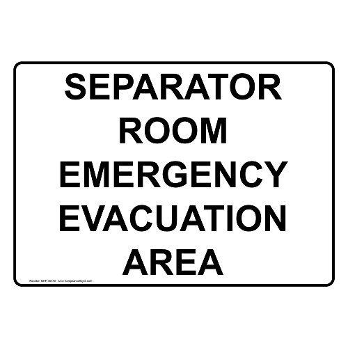 Separador habitación zona de evacuación de emergencia ...