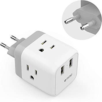 European to US Power Plug Adapter