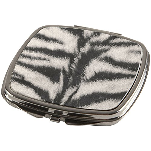 White Siberian Tiger Fur Compact for $<!--$8.95-->