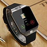 HOK Bluetooth Smart Watch 1.54 Inch Touch Screen Support Sim TF Card With Camera For Android IOS Smart Phone (Black)