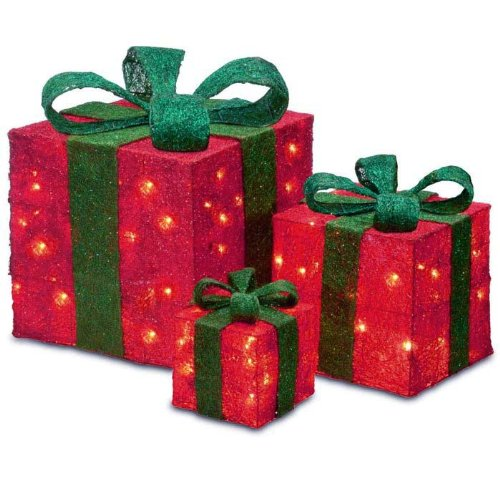 Lighted Gift BOXES Christmas Indoor / Outdoor 150 Lights presents ...