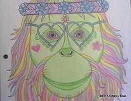 Amazon Hippie Animals Coloring Book Coloring Is Fun