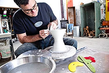 Orange Most Obsorbant Sponge Tool for Pottery Wheel and Clay Artists Sherrill Mudtools MudSponge