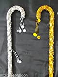 bonballoon 2pcs Belly Dance Canes Sticks Egyptian Decorated Sequins Beads Handmade