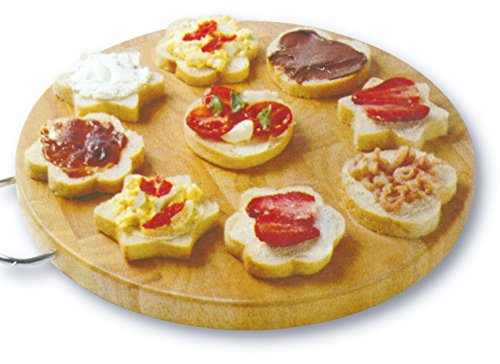 Zoie chloe 3 piece canape party bread mold set kitchen for Canape bread molds