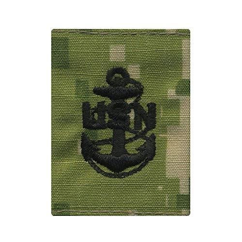 (US Navy New Woodland NWU Type III Parka Loop E7 Chief Petty Officer Rank)