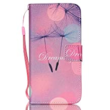 "Galaxy S6 Edge Plus Wallet Case - PhoneCase Home Magnetic Leather Purse Flip Cover with Credit ID Card Slots and Hand Strap for Samsung Galaxy S 6 Edge+(5.7"") - Fancy Dreaming"