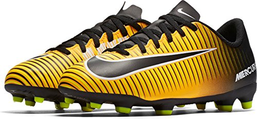 Nike Jr. Mercurial Vortex III Suelo duro Niño 30 bota de fútbol - Botas de fútbol (Suelo duro, Niño, Masculino, Negro, Naranja, Blanco, Imagen, Imitación piel, Termoplástico de poliuretano (TPU))