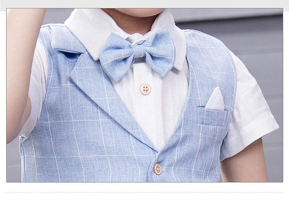 Wenchuang Junge Sommer-Gentleman-Hochzeits-Gastgeber-Pianist-Anz/üge