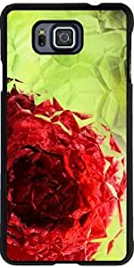 Case for Samsung Galaxy Alpha - Polygon Rose