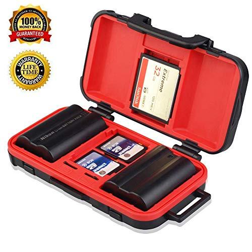 Memory Card Storage Case, Camera Battery,SD TF CF Card Case Waterproof Camera Battery Holder