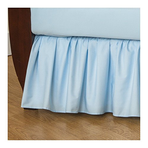 TL Care 100% Natural Cotton Percale Crib Bed Skirt, Blue, Soft Breathable, for Boys and - Crib Care