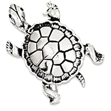 IceCarats 925 Sterling Silver Turtle Pin