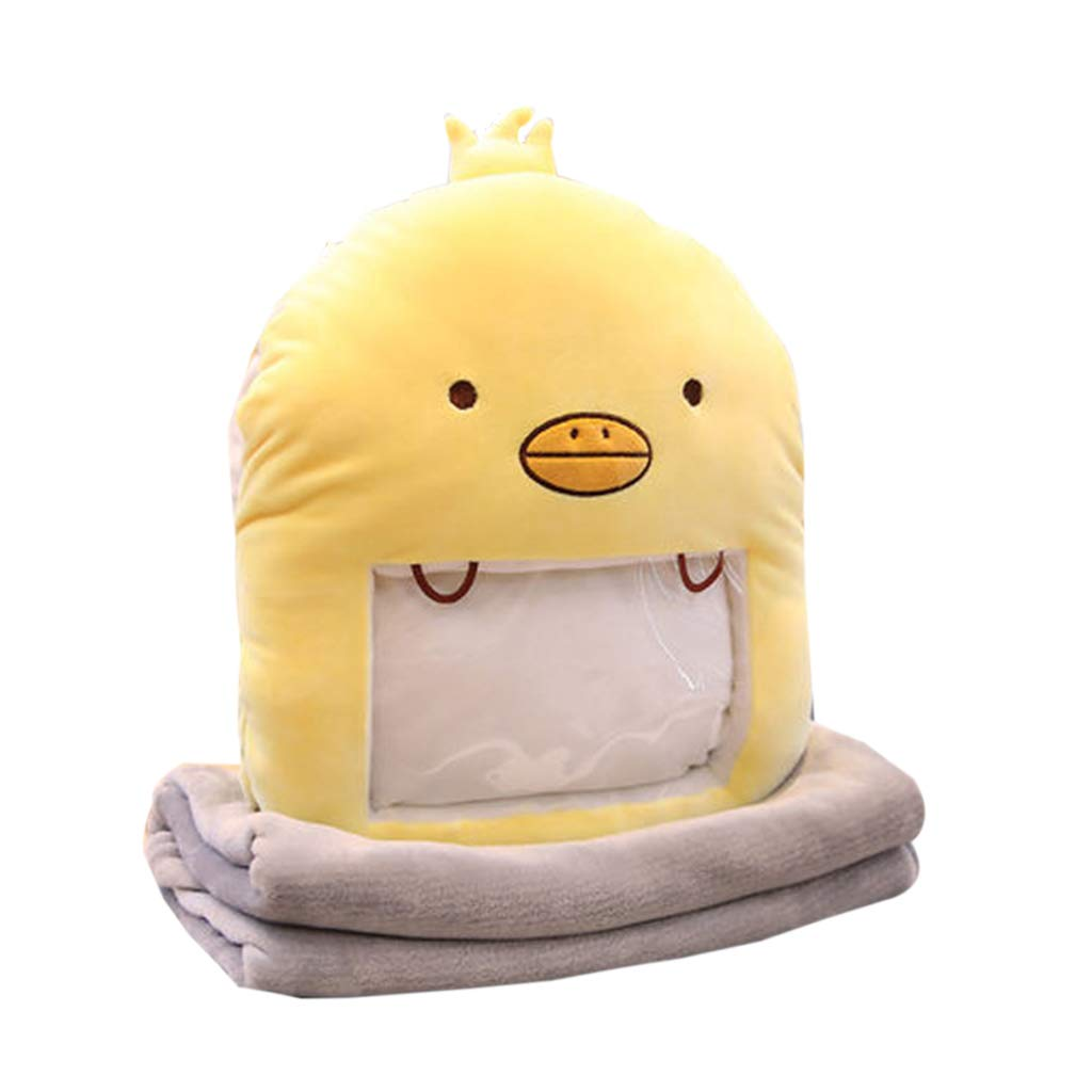 Throw Pillows Pillow Pillow Yellow Cushion Cartoon Pillow Small Yellow Duck Warm Hand Pillow Intercepting Doll Plush Doll Girl Cute Winter Play Mobile Phone Handcuffs Super Miao Lazy