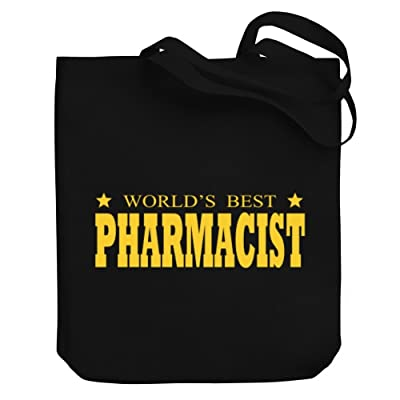 Teeburon World's best Pharmacist Canvas Tote Bag